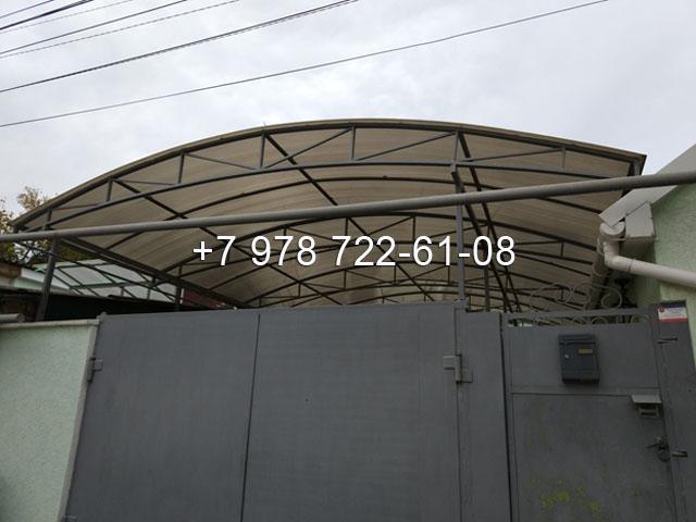 Навесы в Симферополе из сотового поликарбоната