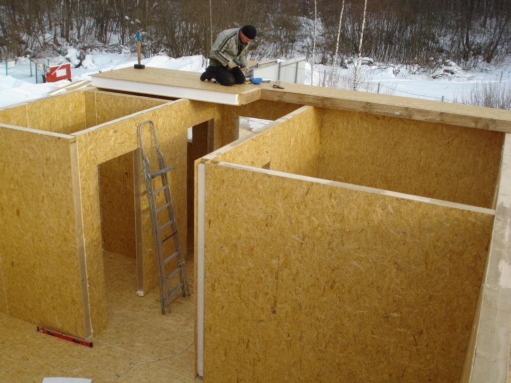 Сборка домов из сип панелей своими руками