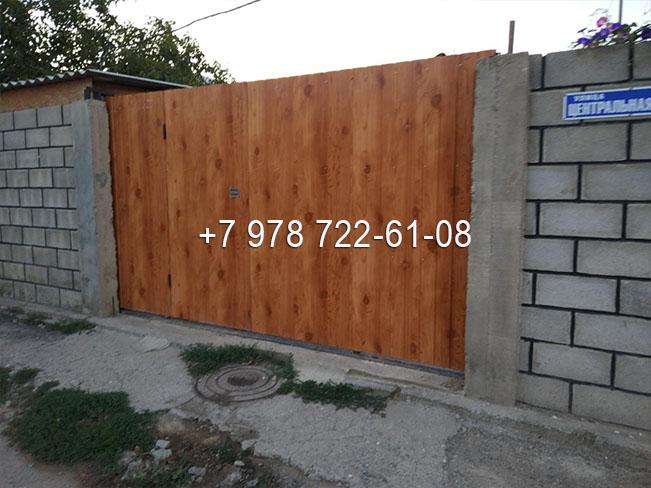 Деревянные ворота в Симферополе купить