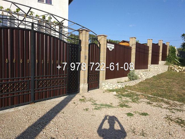 ворота Симферополь установка