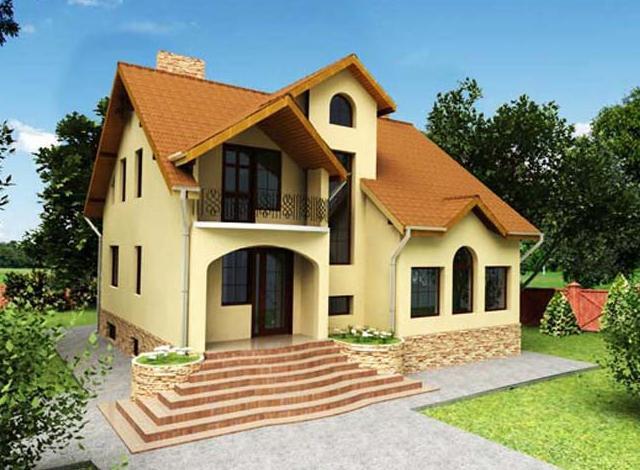 комбинированный дом из бруса и кирпича фото
