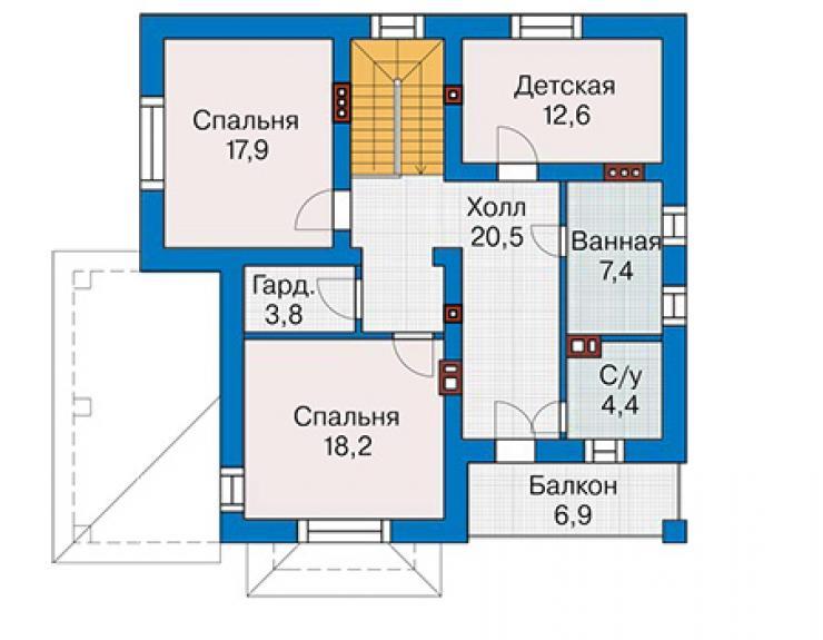 Проект дома из пеноблоков 61-26 ооо стройкомплект-с.