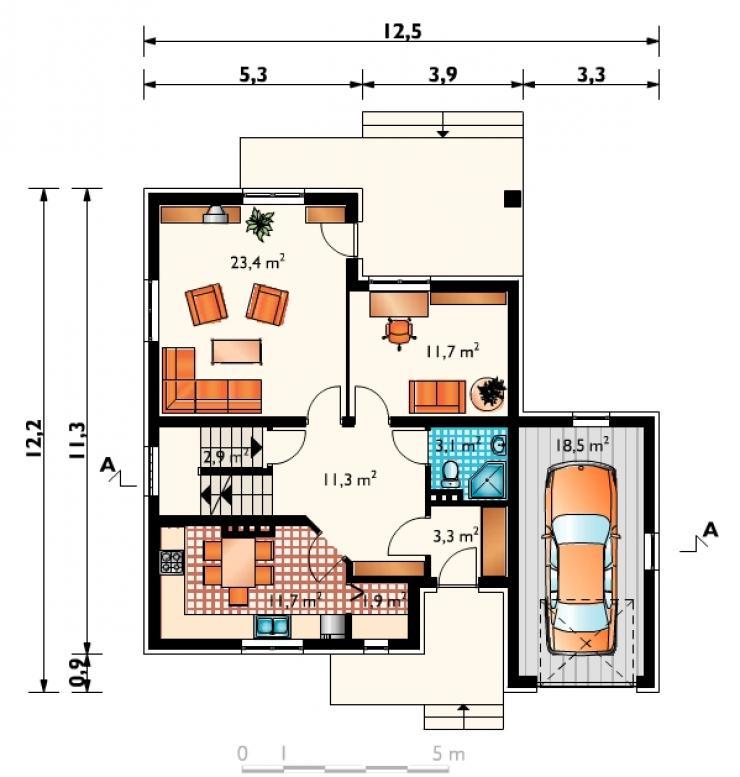 Проект дома с мансардой swistak rbt master.