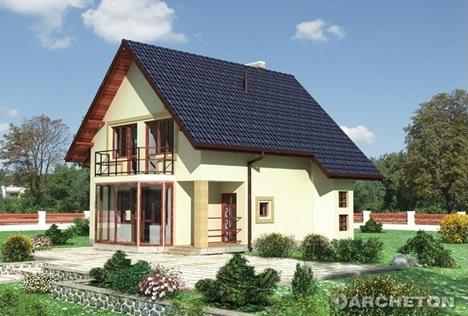 Двухэтажный дом в Крыму на 160 м2