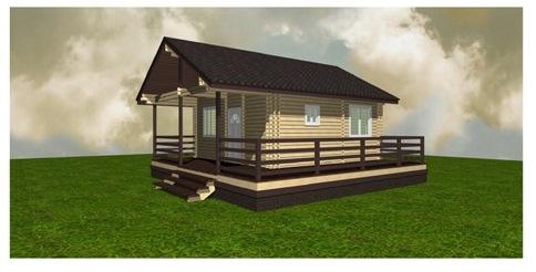 Построить дом с террасой в Крыму 36 кв