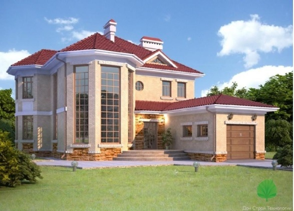 Двухэтажный особняк в Крыму 393м2