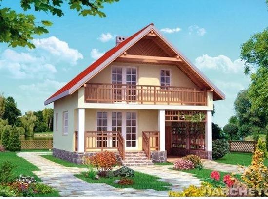 Двухэтажный дом в Крыму 143 м2