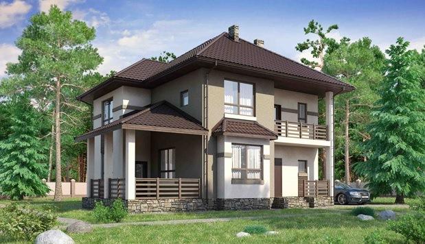 Двухэтажный дом в Крыму на 213 м2