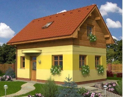 Двухэтажный дом в Крыму на 75 м2