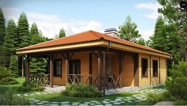 Одноэтажный дом в Крыму на 80 м2