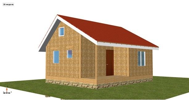 Построить дом в Крыму 55 кв. цена